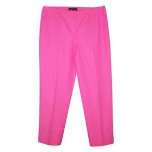 Lafayette 148 Pink Bleecker Pants 8 Cotton Cropped
